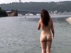 wicked youthful nudists play with every other in