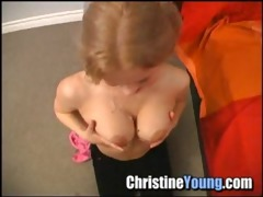 one more christine youthful blow job