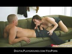 youthful lascivious big-boob brunette hair