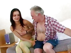 old chap seducing young cutie