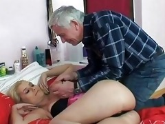 naughty old stud screws young blonde