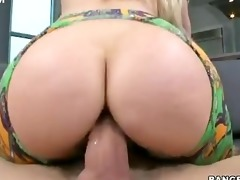 hot golden-haired ashley fires rides large