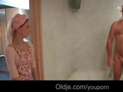perv old geezer bonks juvenile hotel maid