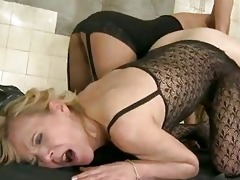 dominatrix-bitch and her old sufferer