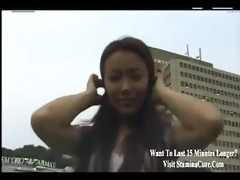 young oriental is amazed to have a penis all to