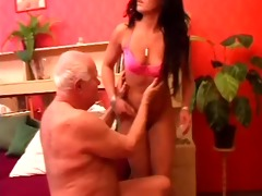 old stud gets his ramrod massaged