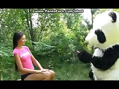 sex in the woods with a biggest toy panda