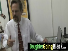 hawt daughter pecker engulf and interracial fuck