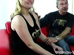 dilettante grandpapa with sexy blond big