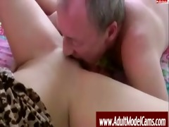 old fellow bonks youthful chick -