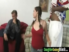 youthful daughter with valuable wazoo drilled by