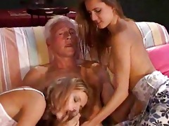 hawt youthful women fucking a senior!