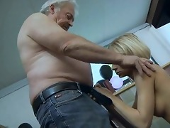 large breasted blonde honey sucks old mans