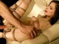 juvenile beauty gets bound up and screwed hard