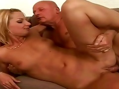 favourable older man enjoying hawt sex with legal
