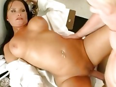 large breasted brunette hair doctor screws a